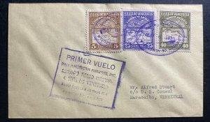 1930 Puerto Caballo Venezuela First Flight Airmail Cover To Maracaibo Pan Americ