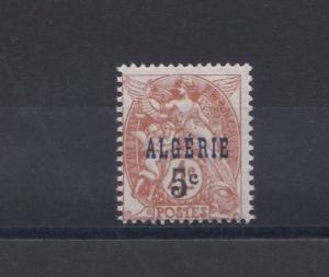 FRENCH COLONIES  ALGERIA 1927 5C ON 4C  M H