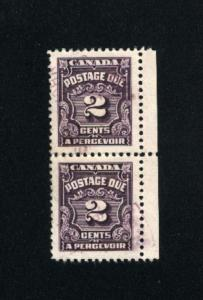 Canada #J16  2   used pair  1933-65 PD