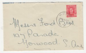 SOUTH AUSTRALIA, KEITH cds, 1942 cover, KGVI 2 1/2d. Red.