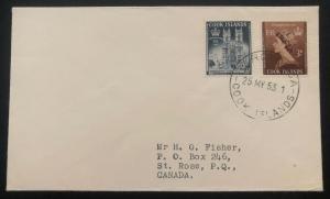 1953 Rarotonga Cook Island First Day Cover QE2 Queen Elizabeth coronation FDC 1
