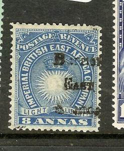 BRITISH EAST AFRICA (P2012B) SUN  8A  SG42  OVPT SHIFT  MOG