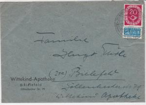 Germany 1951 Slogan Cancel Obligatory Tax Aid For Berlin Stamps Cover Ref 25786