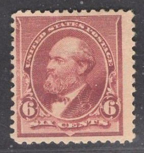 US Stamp #224 6c Brown Red Garfield MINT NO GUM SCV $$50 (as hinged)