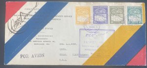 1939 Maracaibo Venezuela First Flight Airmail Cover To Leona TX Usa Signed PAA