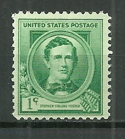 1939 1¢ Composer Stephen Foster 879 MNH