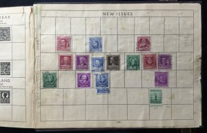 Postage Stamp Album Year? Few stamps stuck to pages