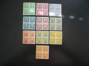 Stamps - Cuba - Scott# 519-528 - Mint Hinged Set of 10 Stamps in Blocks of 4