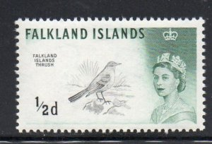 Falkland Islands Sc 128 1960 1/2d Thrush stamp mint NH