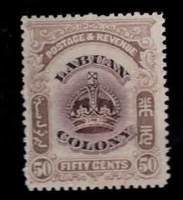 Labuan Scott 108 MH* Crown stamp CV$12
