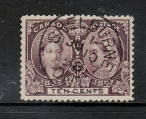 Canada #57 Very fine Used With Ideal S.O.N. July 10 1898 CDS Cancel Shelberne