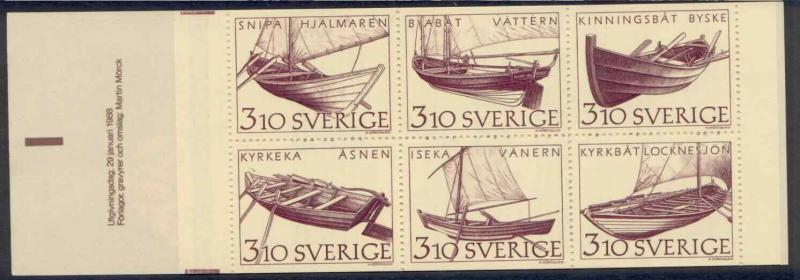 Sweden 1671a Booklet MNH, Long boat