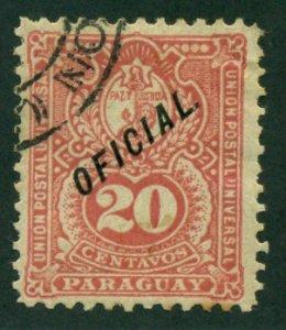 Paraguay 1892 #O39 U SCV (2018) = $0.75