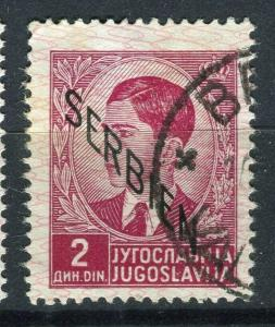 SERBIA; GERMAN Occupation issue 1941 fine used Optd. 2d. value