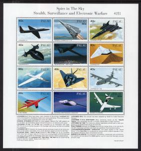 Palau 403-404 Airplanes Souvenir Sheets