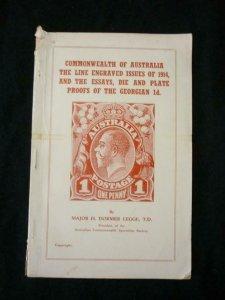 COMMONWEALTH OF AUSTRALIA THE LINE ENGRAVED ISSUES 1914 by MAJOR H DORMER LEGGE