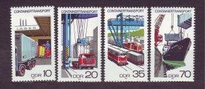 J23284 JLstamps 1978 germany DDR mnh set #1914-7 transportation