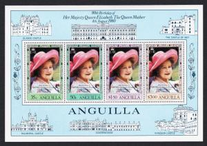 Anguilla 80th Birthday of The Queen Mother MS 4v SG#MS415 SC#397a