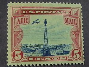 U.S.# C11-MINT/NH--CARMINE & BLUE--AIR-MAIL--BEACON ON ROCKY MTNS---1928