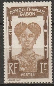 Gabon 1910 Sc 46 Yt 46 MNG(*) signed Brun