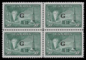 Canada Scott #O24 OG MNH Block Of 4 eGRADED W/Certificate Superb 97
