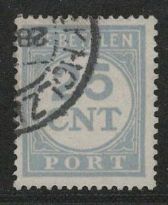 Netherlands Scott # J69, used, perf 13.5 : 12.5