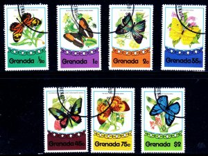 Grenada Used 660-6 Butterflies Insects 1975