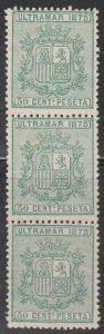 1875 Cuba Stamps Sc 65 Spain Coat of Arms Block 3 NEW