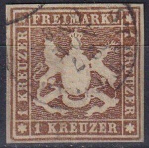 Wurttemberg #13 F-VF Used CV $100.00 (Z7133)