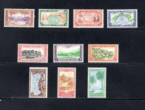 Cook Islands, Scott 131-140, VF, Unused, Original Gum, CV $46.50   ..... 1500080