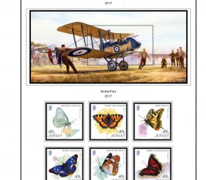 COLOR PRINTED JERSEY 2015-2018 STAMP ALBUM PAGES (60 illustrated pages)
