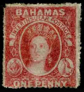 BAHAMAS SG4, 1d Lake, M MINT, Rough Perf 14-16. Cat £650.