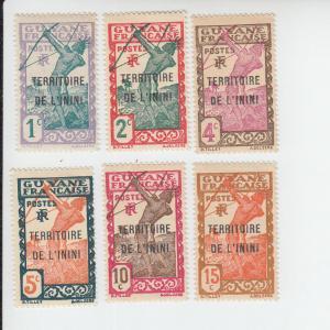 1932-40 Inini Carib Archer Overprints (Scott 1-2, 4-7) MDG