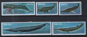 South West Africa 437-442 Whales MNH VF