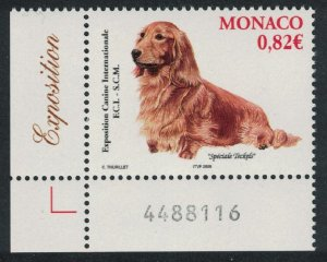 Monaco Dachshund International Dog Show Monte Carlo Corner Number SG#2698
