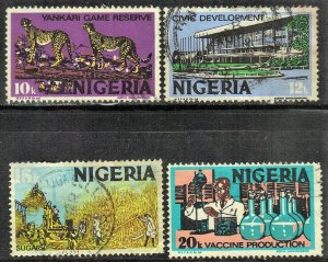 NIGERIA SC# 297+298+299+301 **USED** 1973-74      SEE SCAN