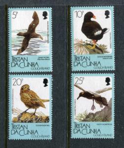 Tristan da Cunha 455-459, MNH, Birds Gough Moorhen, Sooty Albatross 1989, x29135