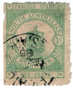 (I.B) Australia - South Australia Railways : Parcels Stamp 1d