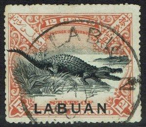 LABUAN 1897 CROCODILE 12C USED