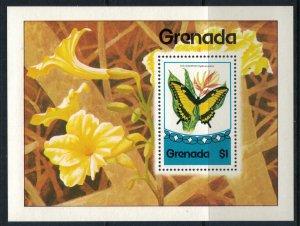 Grenada #667  CV $3.00 Butterfly Souvenir sheet