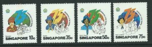 SINGAPORE SG512/5 1985 GIRL GUIDES FINE MNH