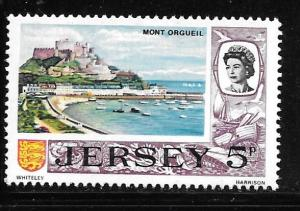 Jersey 42: 5p Mont Orgueil Castle by day, MH, VF