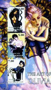Tajikistan 2002 THE ART OF OLIVIA Pop Art s/s Perforated Mint (NH)