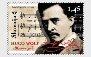 2020 Slovenia Hugo Wolf Composer (Scott NA) MNH