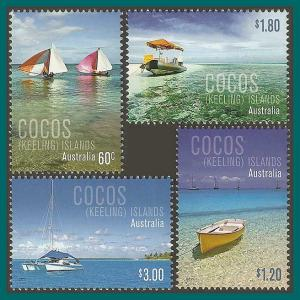 Cocos 2011 Boats, MNH 356-359,SG446-SG449