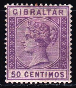 Gibraltar. 1889. 26 of the series. Queen Victoria. MLH.