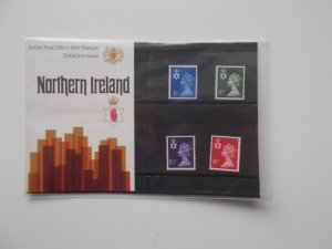 1974 Northern Ireland Machin Regional 3p to 8p Original Presentation Pack no.61