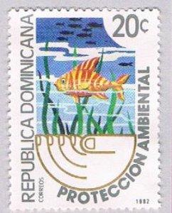 Dominican Republic Fish 20c - pickastamp (AP104014)