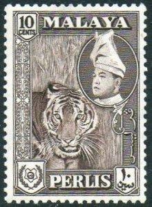 Perlis 1957 10c Tiger MH