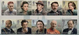 Great Britain Sc 3157-66 2013 Great Britons stamp set mint NH